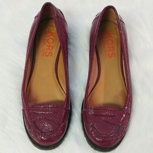 Michael Kors Patent Leather Penny Loafers SZ 8